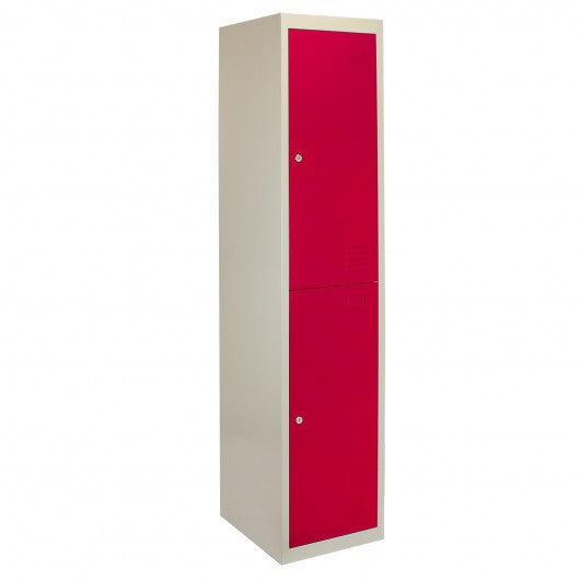 3-x-metal-storage-lockers-two-doors-red Techni-Pros - techni-pros