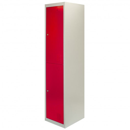 metal-storage-lockers-two-doors-flatpacked-red Techni-Pros - techni-pros