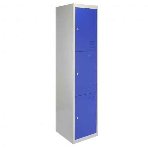 metal-storage-lockers-three-doors-flatpacked-blue Techni-Pros - techni-pros