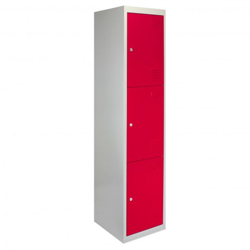 metal-storage-lockers-three-doors-red Techni-Pros - techni-pros