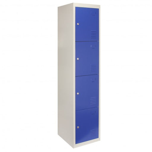 metal-storage-lockers-four-doors-blue Techni-Pros - techni-pros