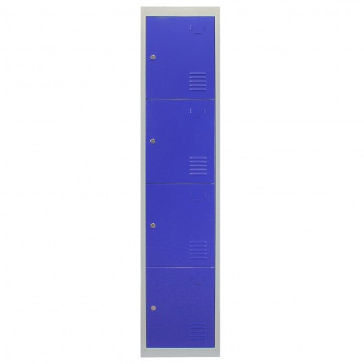 metal-storage-lockers-four-doors-flatpacked-blue Techni-Pros - techni-pros