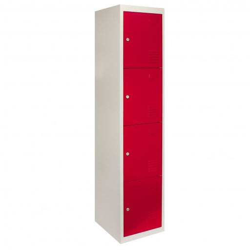 metal-storage-lockers-four-doors-flatpacked-red Techni-Pros - techni-pros