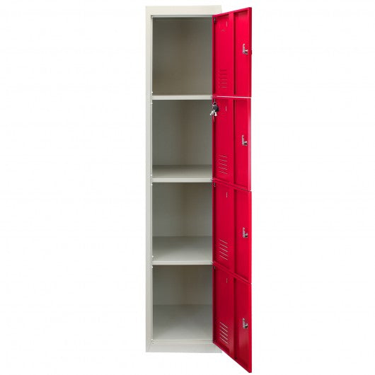 metal-storage-lockers-four-doors-red Techni-Pros - techni-pros