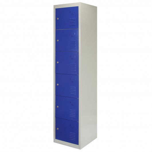 metal-storage-lockers-six-doors-blue Techni-Pros - techni-pros