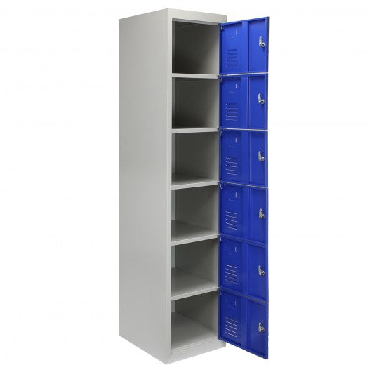 metal-storage-lockers-six-doors-flatpacked-blue Techni-Pros - techni-pros