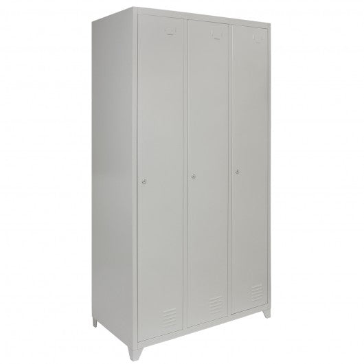 metal-storage-lockers-three-doors-grey Techni-Pros - techni-pros