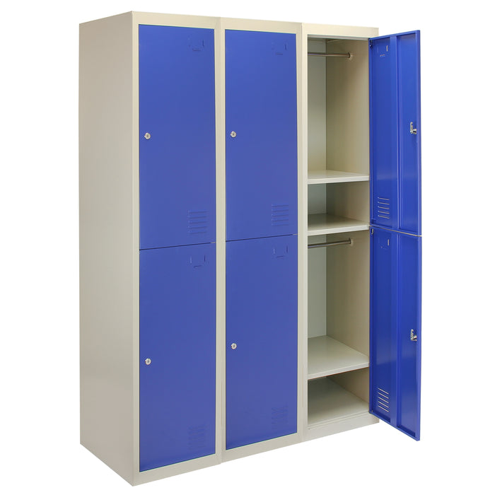 3-x-metal-storage-lockers-two-doors-blue Techni-Pros - techni-pros