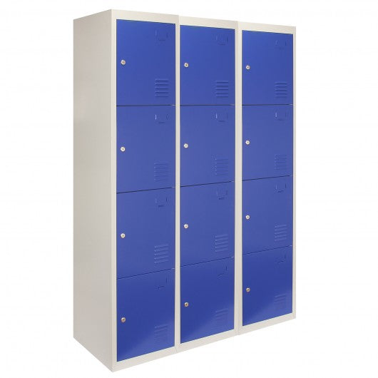 3-x-metal-storage-lockers-four-doors-blue-flatpack Techni-Pros - techni-pros