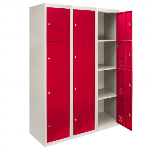 3-x-metal-storage-lockers-four-doors-red-flatpack Techni-Pros - techni-pros