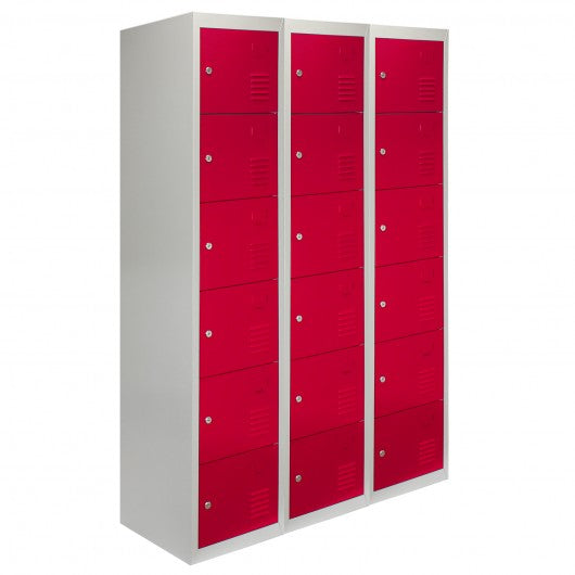 3-x-metal-storage-lockers-six-doors-red Techni-Pros - techni-pros