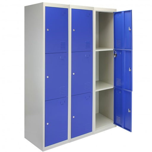 3-x-metal-storage-lockers-three-doors-blue Techni-Pros - techni-pros