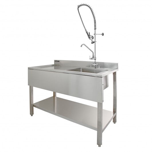 kukoo-commercial-sink-pre-rinse-tap-left-hand-drainer Techni-Pros - techni-pros