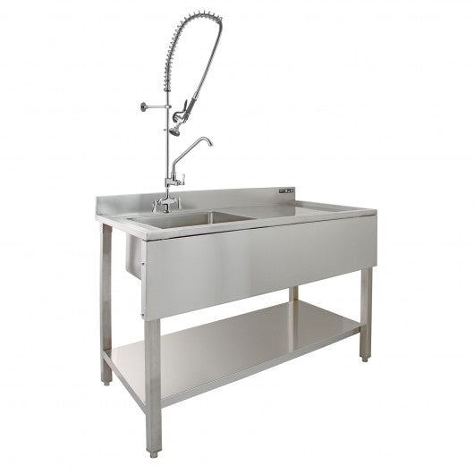 kukoo-commercial-sink-pre-rinse-tap-right-hand-drainer Techni-Pros - techni-pros