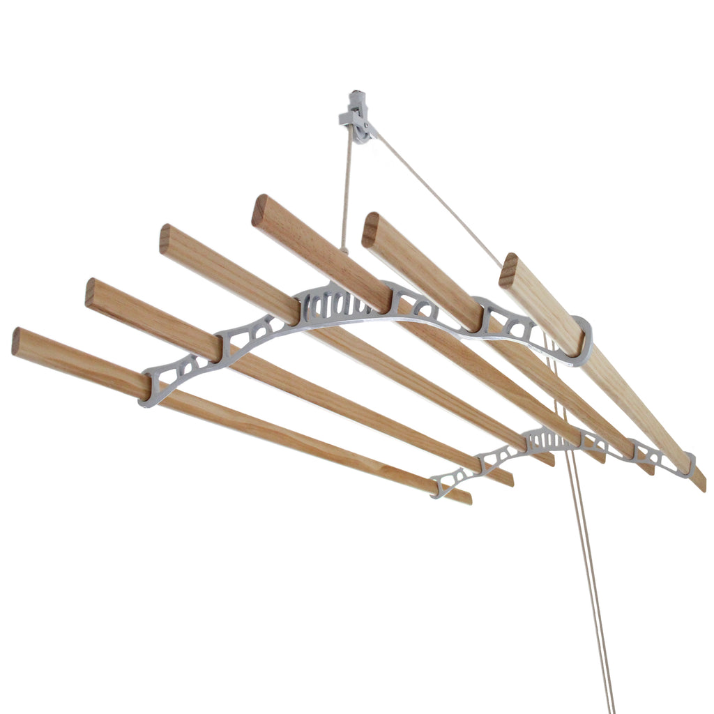 clothing-airer-ceiling-pulley-white-2m Techni-Pros - techni-pros