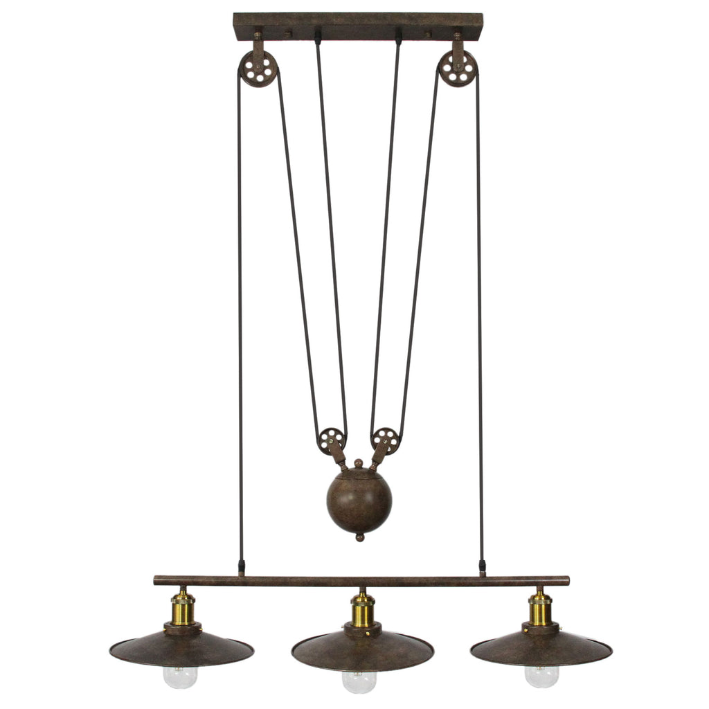 pendant-pulley-light-triple-bulb-rustic Techni-Pros - techni-pros