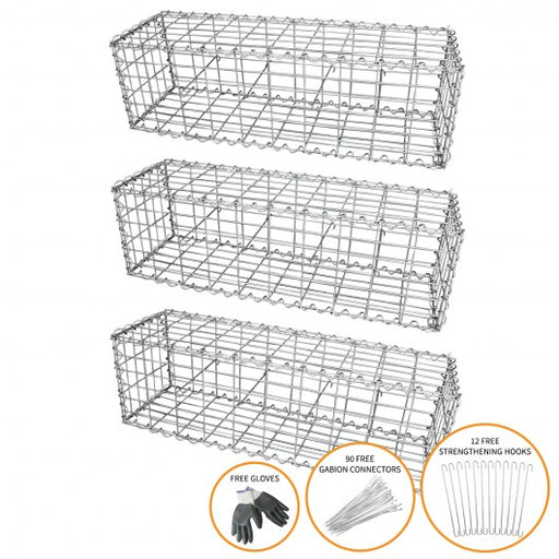 gabion-baskets-100-x-30-x-30cm-3-pack Techni-Pros - techni-pros