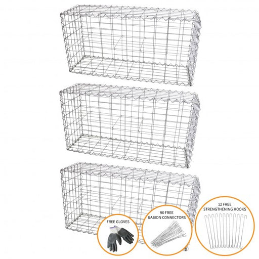 gabion-baskets-100-x-50-x-30cm-3-pack Techni-Pros - techni-pros