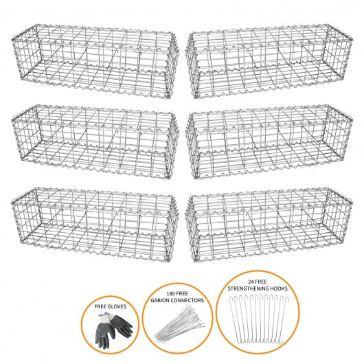 gabion-baskets-100-x-30-x-30cm-6-pack Techni-Pros - techni-pros