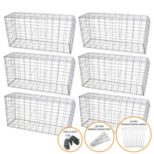 gabion-baskets-100-x-50-x-30cm-6-pack Techni-Pros - techni-pros