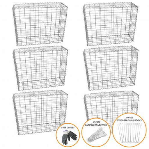gabion-baskets-100-x-95-x-30cm-6-pack Techni-Pros - techni-pros