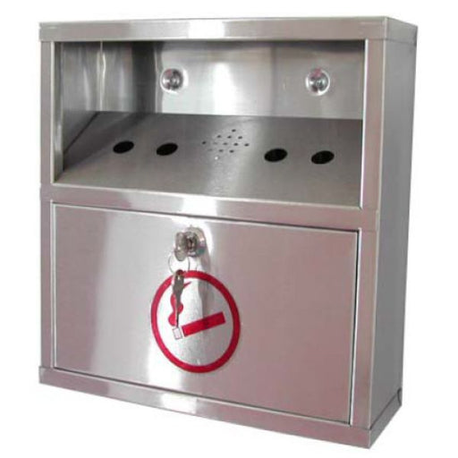 Wall Mounted Stainless Steel Cigarette Bin Techni-Pros - techni-pros