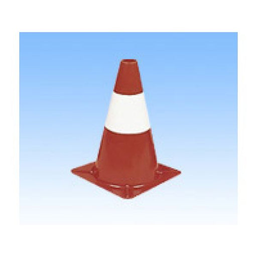 300mm Red With White Band Lightweight Cone Techni-Pros - techni-pros