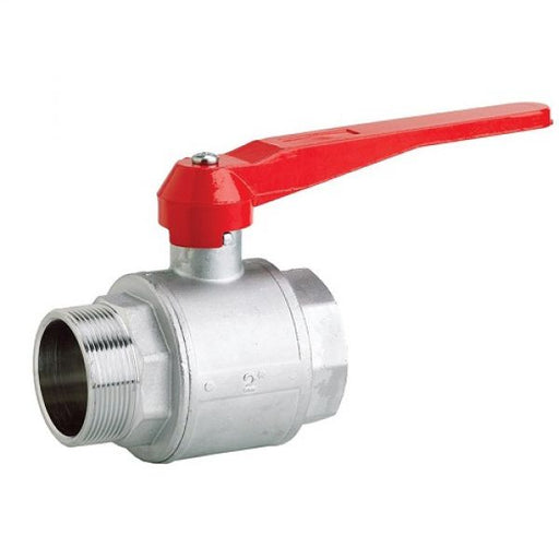 "1 1/2"" BSP Male x 1 1/2"" BSP Female Plated Brass Lever Ball Valve Techni-Pros - techni-pros"