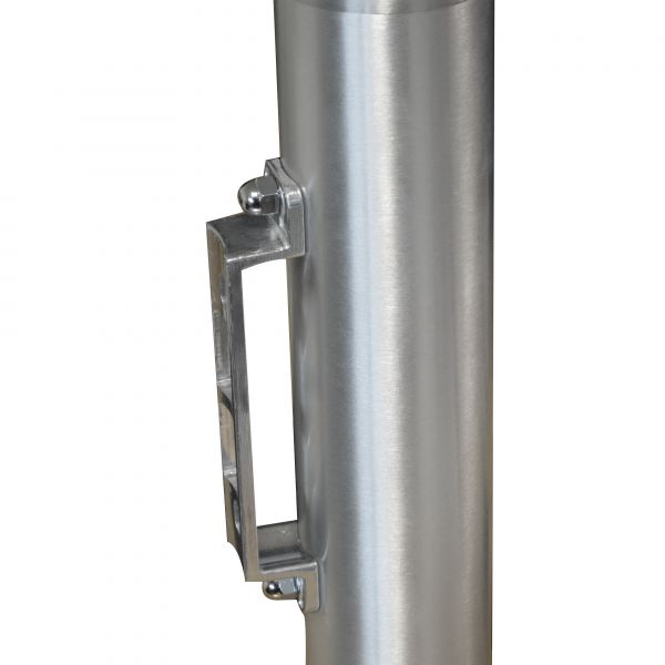 Brushed Aluminium Wall Mounted Cylindrical Cigarette Bin Techni-Pros - techni-pros