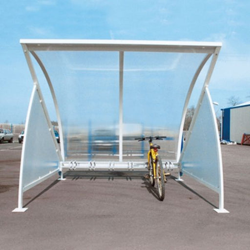 Moonshape Cycle Shelter with Cycle Rack Techni-Pros - techni-pros
