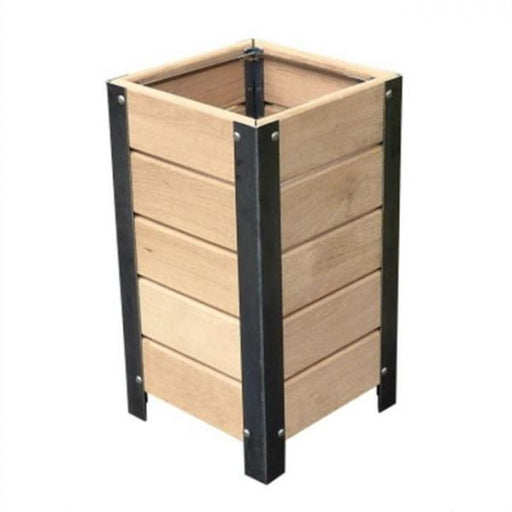 Silaos Timber Litter Bin Techni-Pros - techni-pros