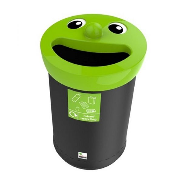 Novelty Face Recycling Bin - 62 Litre Techni-Pros - techni-pros