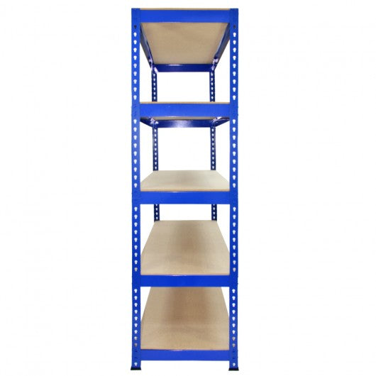 q-rax-blue-metal-shelving-units-120cm-x-180cm-x-50cm Techni-Pros - techni-pros