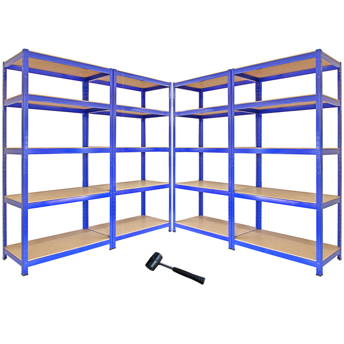 monster-racking-t-rax-metal-storage-shelves-blue-90cm-w-45cm-d-set-of-4 Techni-Pros - techni-pros