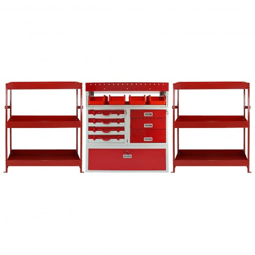 Monster Racking Flame Metal Van Shelving Bundle - techni-pros