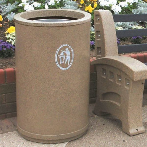 Universal Open Top Litter Bin - 90 Litre Techni-Pros - techni-pros