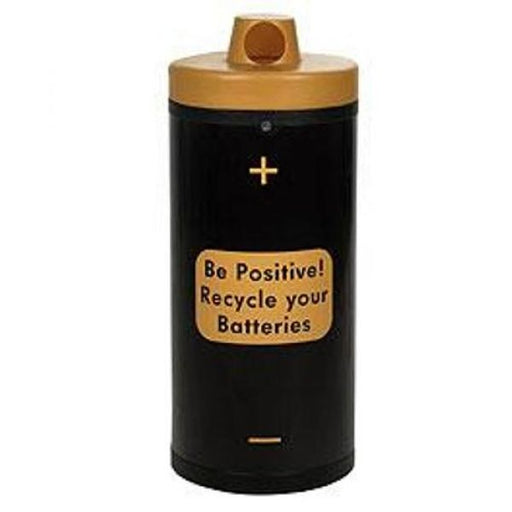 Battery Recycling Bin with 'Be Positive' Graphics - 52 Litre Techni-Pros - techni-pros