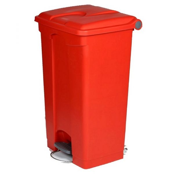 Plastic Pedal Operated Litter Bin - 90 Litre Techni-Pros - techni-pros