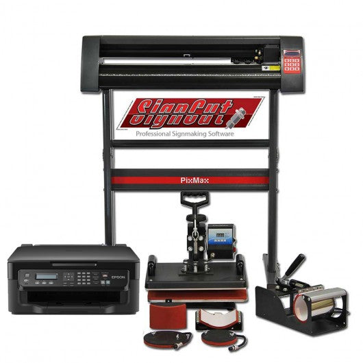 PixMax Da Vinci Bundle 5 in 1 Heat Press, Vinyl Cutter, Printer - techni-pros