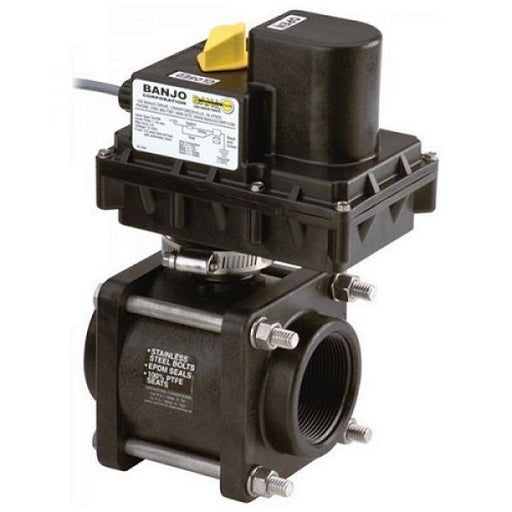Banjo Electric On/Off Ball Valve -12 Volt DC Techni-Pros - techni-pros