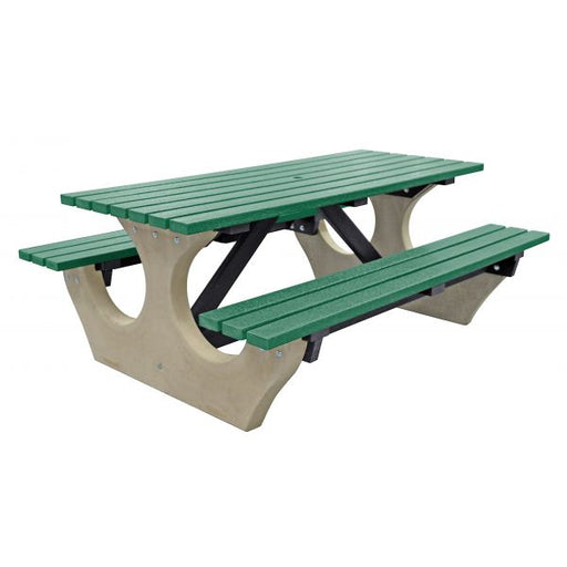 The Big Bench - Concrete and Recycled Plastic Techni-Pros - techni-pros