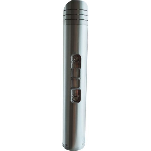 Brushed Aluminium Post-Mounted Cylindrical Cigarette Bin Techni-Pros - techni-pros