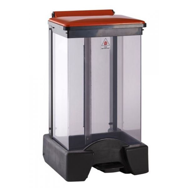 65 Litre Plastic Fire Retardant Clear Body Sackholder Techni-Pros - techni-pros
