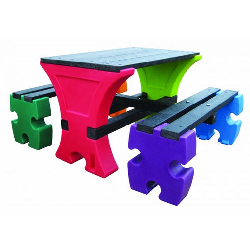 Junior 4 Seater Jigsaw Table & Bench Set Techni-Pros - techni-pros