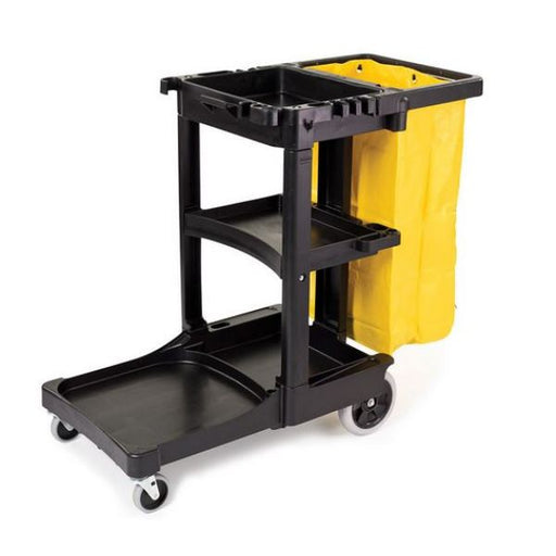 Janitorial Cart with 2 Fixed and 2 Swivel Castors Techni-Pros - techni-pros