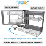 KuKoo Corner Kitchen Cupboard Pull Out Drawers - Left/Right Hand - Techni-Pros