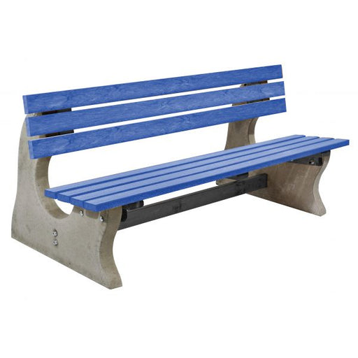 Concrete and Recycled Plastic Park Bench Techni-Pros - techni-pros