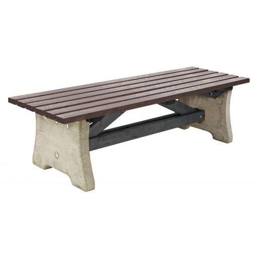 Pennine Bench - Concrete and Recycled Plastic Techni-Pros - techni-pros