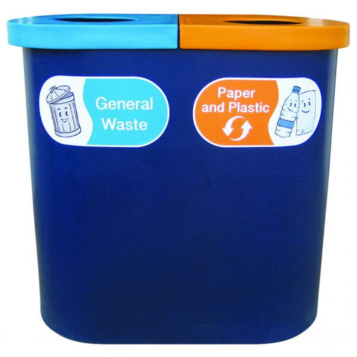 Popular Twin Recycling Bin - 140 Litre Techni-Pros - techni-pros
