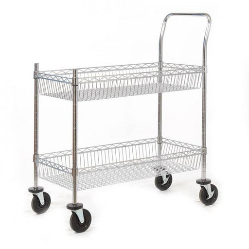 Premium Chrome Plated Wire Tray Trolley Techni-Pros - techni-pros